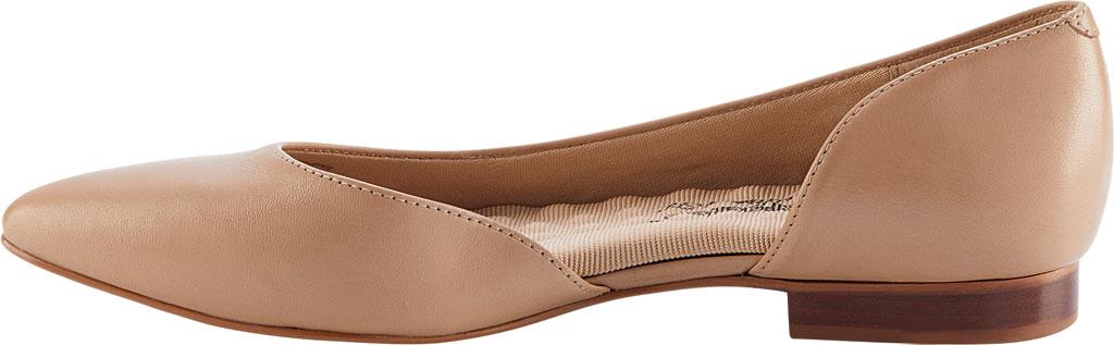 Women's Walking Cradles Raya Pointed Toe Flat, Nude Leather, large, image 3