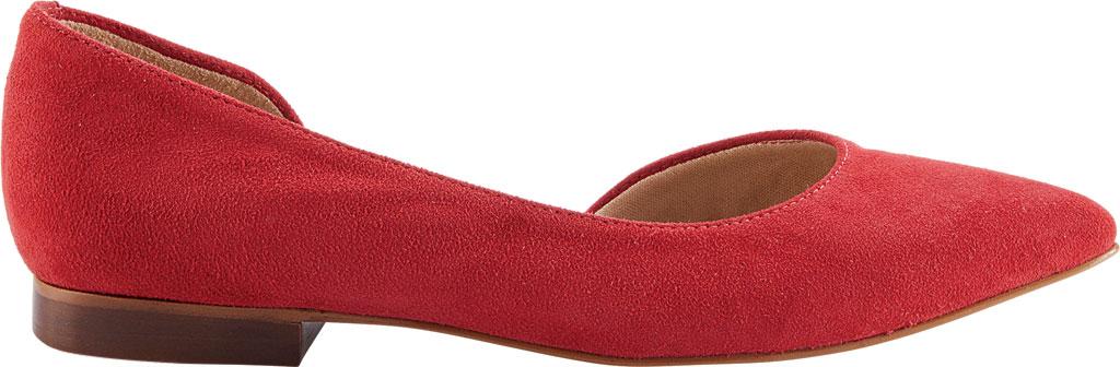Women's Walking Cradles Raya Pointed Toe Flat, Red Suede, large, image 2