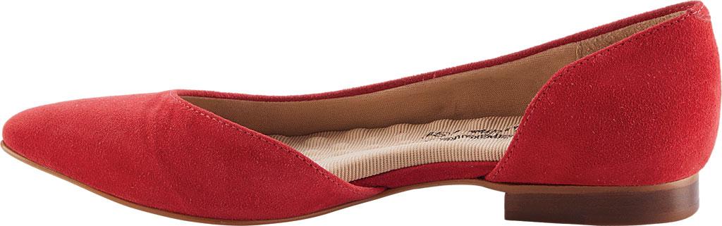 Women's Walking Cradles Raya Pointed Toe Flat, Red Suede, large, image 3