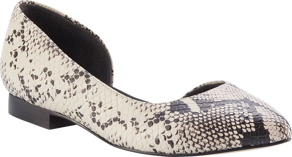 Women's Walking Cradles Raya Pointed Toe Flat, Bone/Black Snake Print Leather, large, image 1
