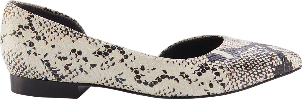 Women's Walking Cradles Raya Pointed Toe Flat, Bone/Black Snake Print Leather, large, image 2
