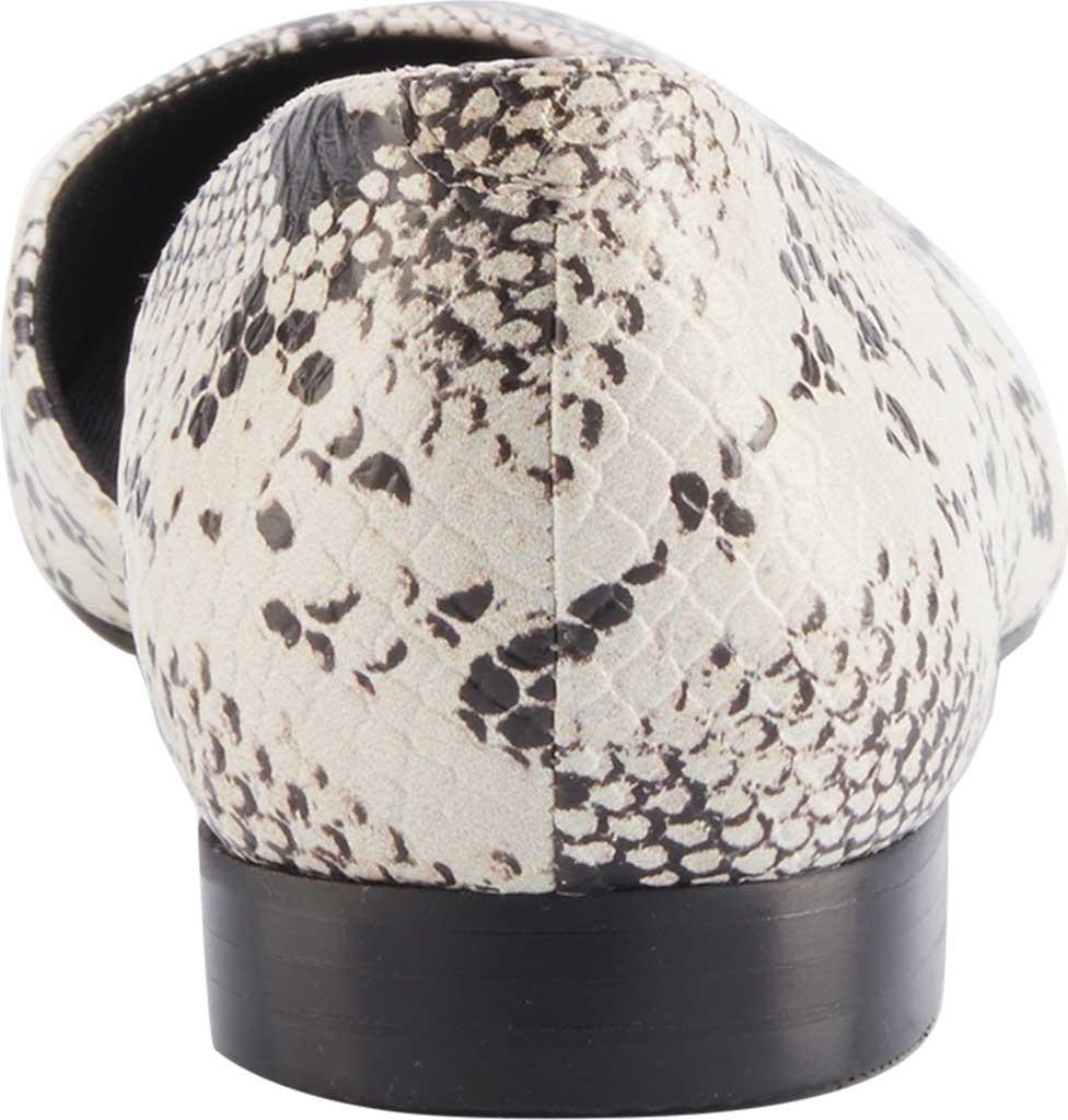 Women's Walking Cradles Raya Pointed Toe Flat, Bone/Black Snake Print Leather, large, image 4