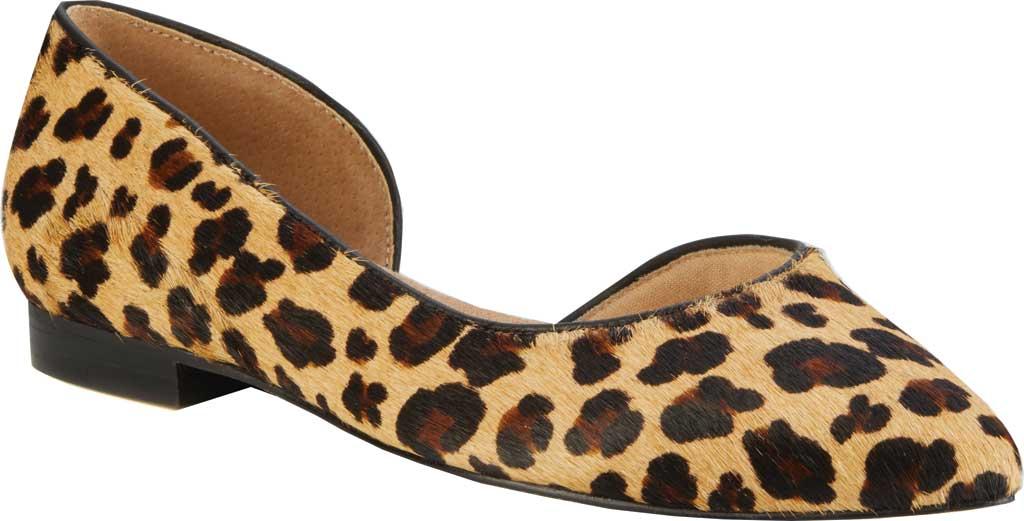 Women's Walking Cradles Raya Pointed Toe Flat, Leopard Calf Hair/Leather, large, image 1