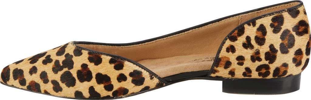Women's Walking Cradles Raya Pointed Toe Flat, Leopard Calf Hair/Leather, large, image 3