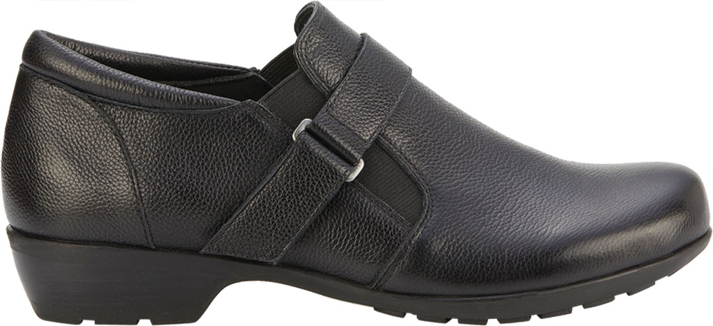 Women's Walking Cradles Eliot Slip On, Black Tumbled Leather, large, image 2