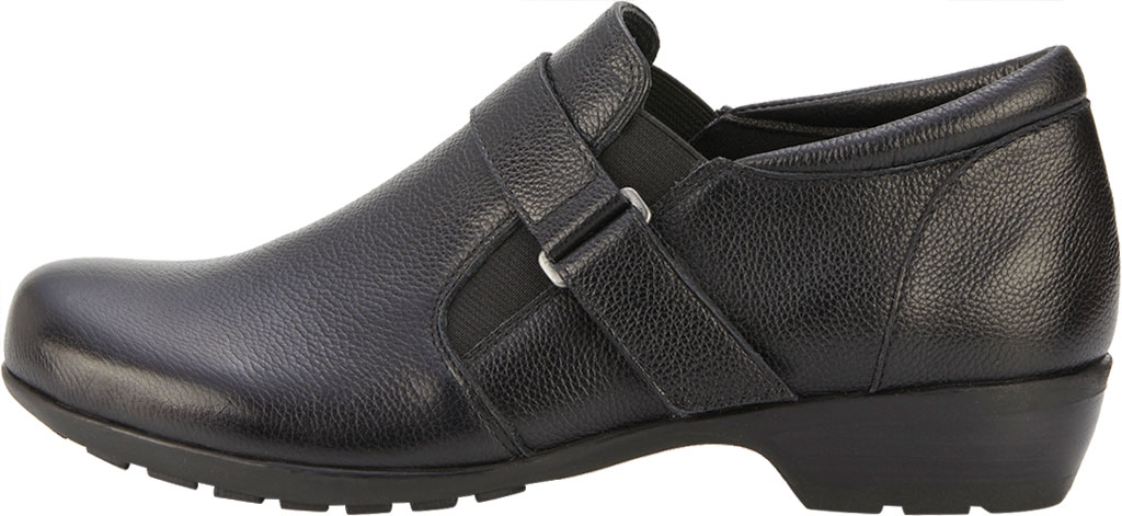 Women's Walking Cradles Eliot Slip On, Black Tumbled Leather, large, image 3