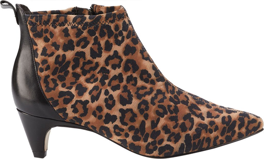Women's Walking Cradles Billie Pointed Toe Ankle Bootie, Leopard/Black Stretch Fabric/Cashmere, large, image 2