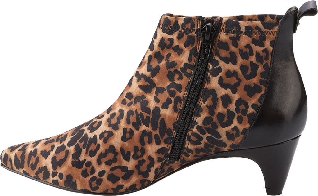 Women's Walking Cradles Billie Pointed Toe Ankle Bootie, Leopard/Black Stretch Fabric/Cashmere, large, image 3