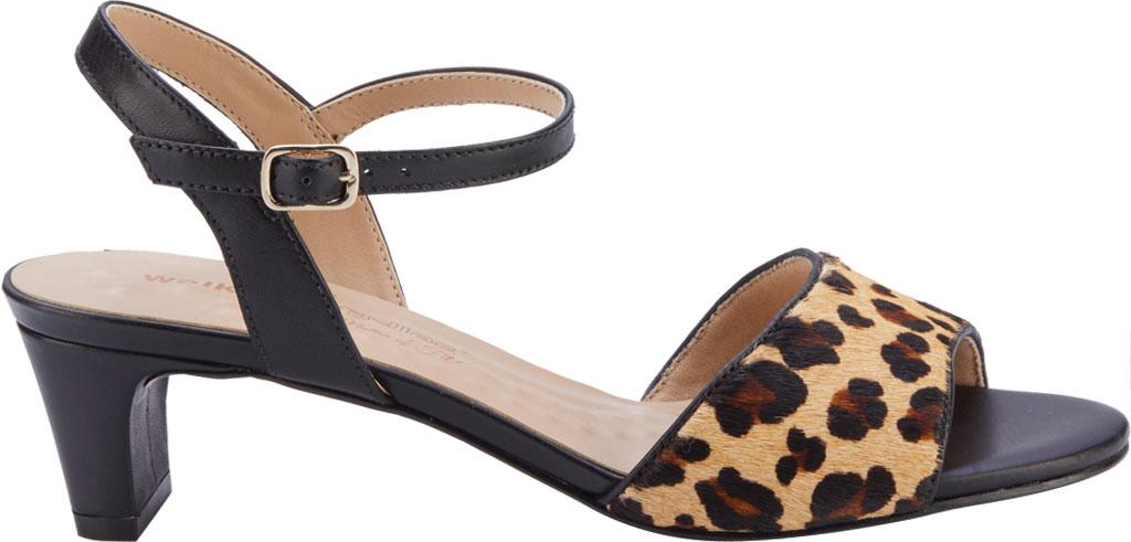 Women's Walking Cradles Lydia Quarter Strap Heeled Sandal, Leopard/Black Calf Hair/Leather, large, image 2