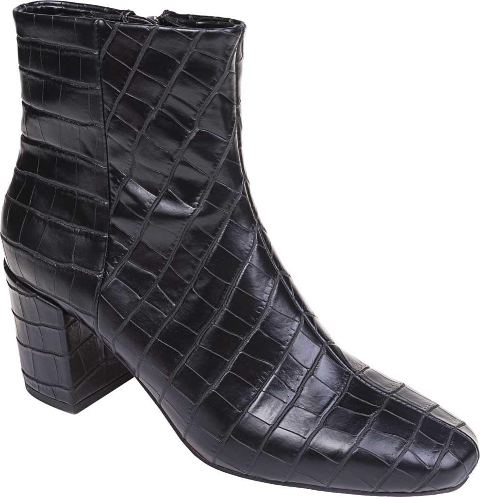 Women's Splendid Heather Heeled Ankle Boot, Black Croco, large, image 1