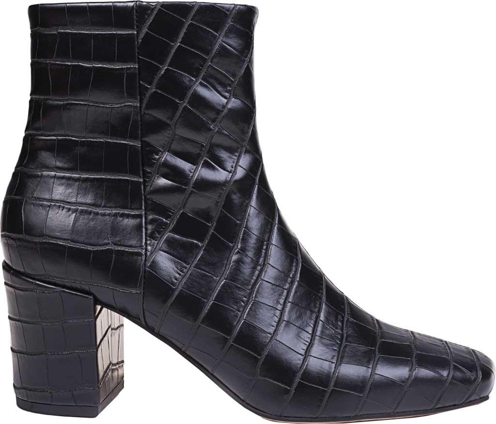 Women's Splendid Heather Heeled Ankle Boot, Black Croco, large, image 2
