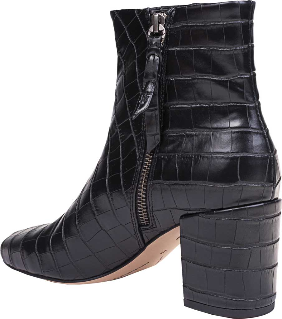 Women's Splendid Heather Heeled Ankle Boot, Black Croco, large, image 3