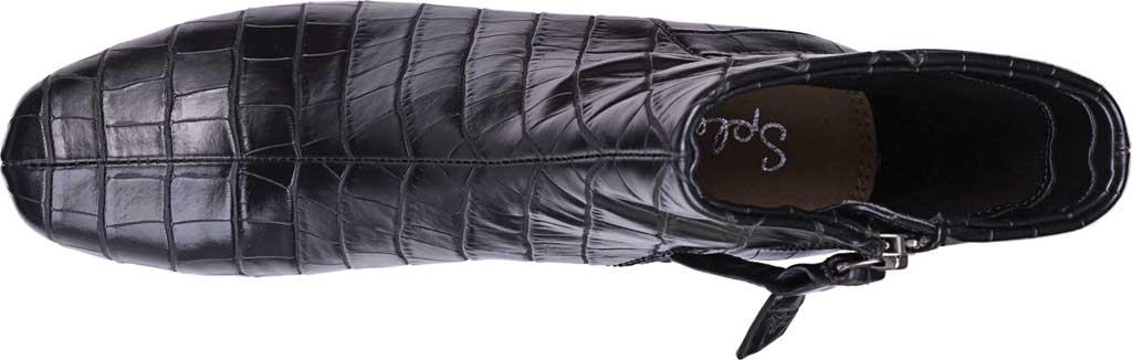 Women's Splendid Heather Heeled Ankle Boot, Black Croco, large, image 4
