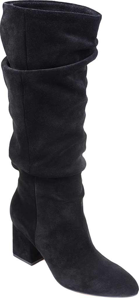 Women's Splendid Phoenix Knee High Slouch Boot, Black Suede, large, image 1