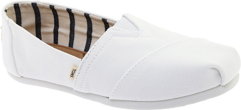 Women's TOMS Seasonal Classic Alpargata, White Canvas, large, image 1