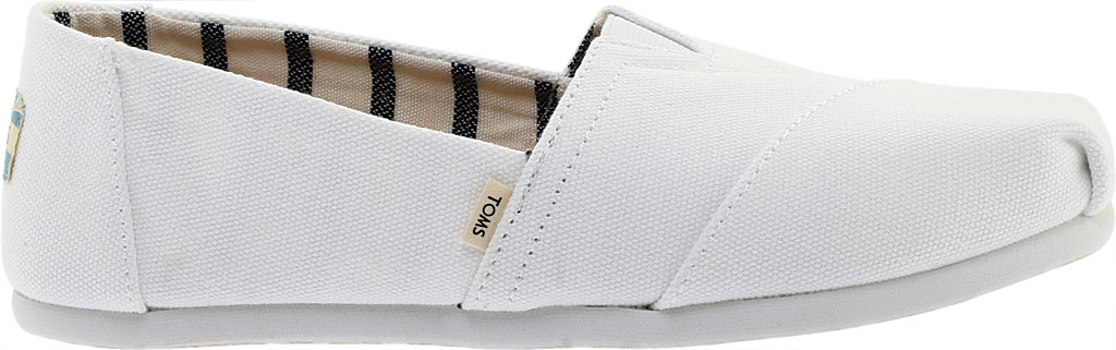 Women's TOMS Seasonal Classic Alpargata, White Canvas, large, image 2