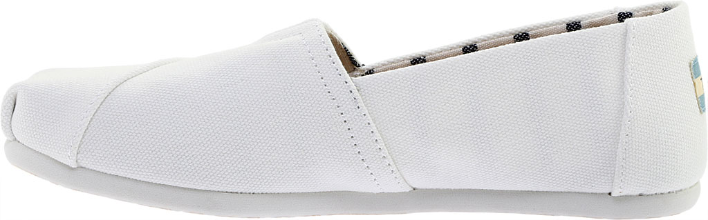 Women's TOMS Seasonal Classic Alpargata, White Canvas, large, image 3