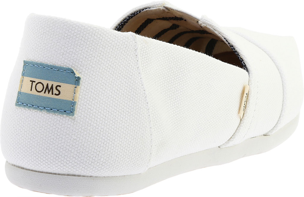 Women's TOMS Seasonal Classic Alpargata, White Canvas, large, image 4