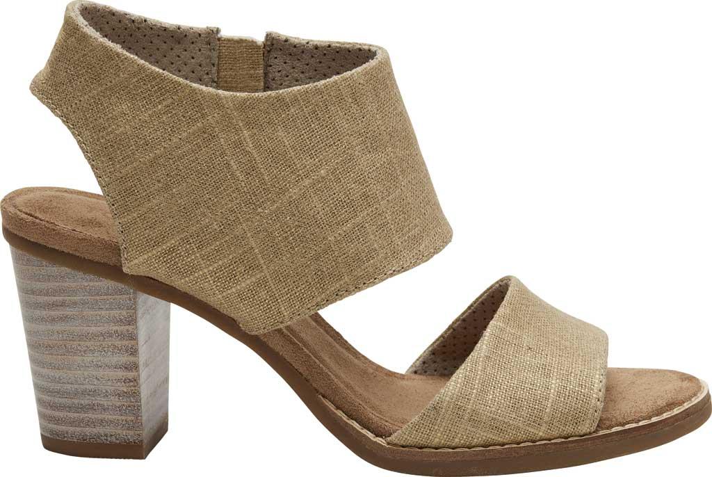 Women's TOMS Majorca Cut-Out Sandal, Champagne Metallic Foil Textile, large, image 2