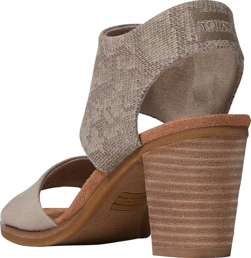 Women's TOMS Majorca Cut-Out Sandal, Cobblestone Snake Printed Twill/Canvas, large, image 3