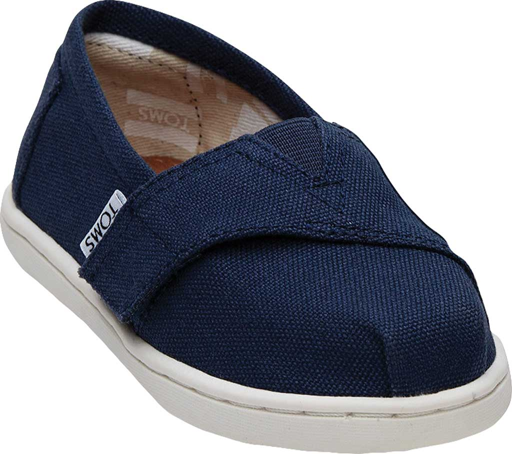 Infant TOMS Seasonal Classic Alpargata, Navy Canvas, large, image 1
