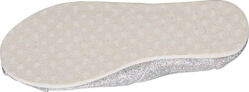 Children's TOMS Seasonal Classic Alpargata, Silver Iridescent Glimmer, large, image 3
