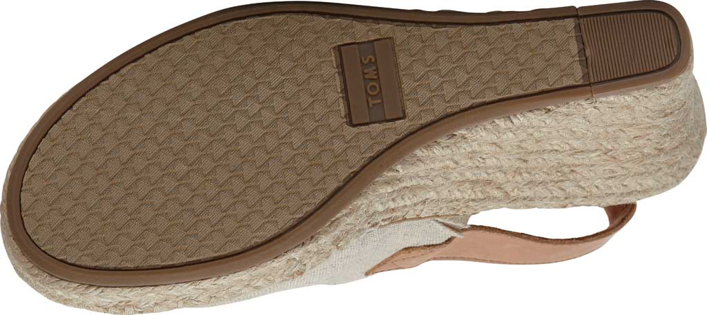 Women's TOMS Monica Slingback Wedge Sandal, Natural Hemp/Leather, large, image 2