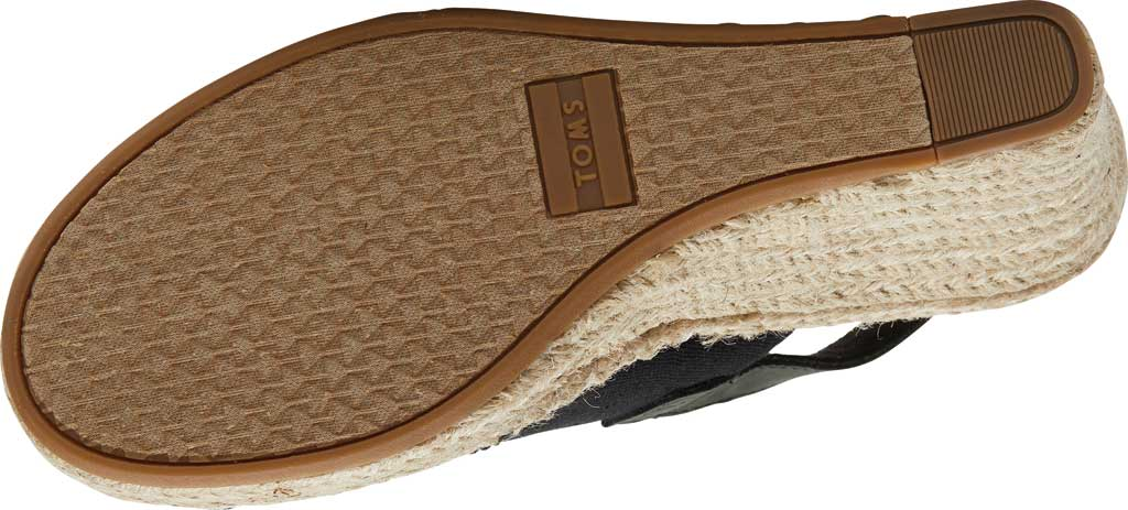 Women's TOMS Monica Slingback Wedge Sandal, Natural Hemp/Leather, large, image 3
