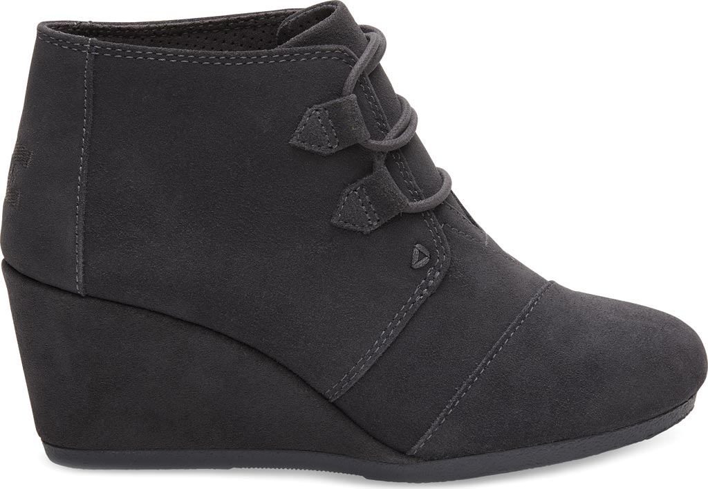 Women's TOMS Kala Desert Wedge Bootie, Forged Iron Grey Suede, large, image 1