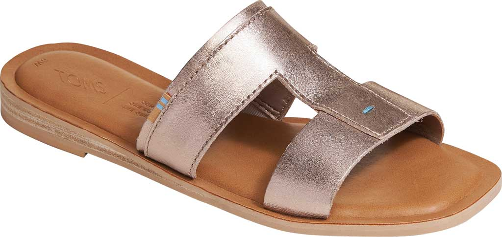 Women's TOMS Seacliff Leather Slide, Rose Gold Leather, large, image 1