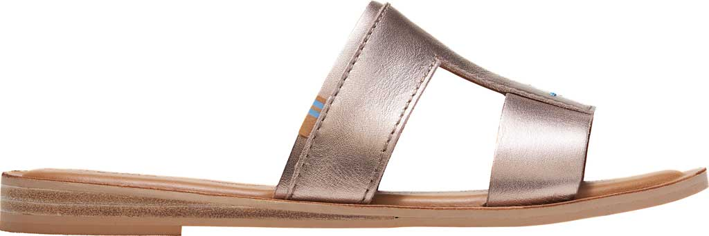 Women's TOMS Seacliff Leather Slide, Rose Gold Leather, large, image 2