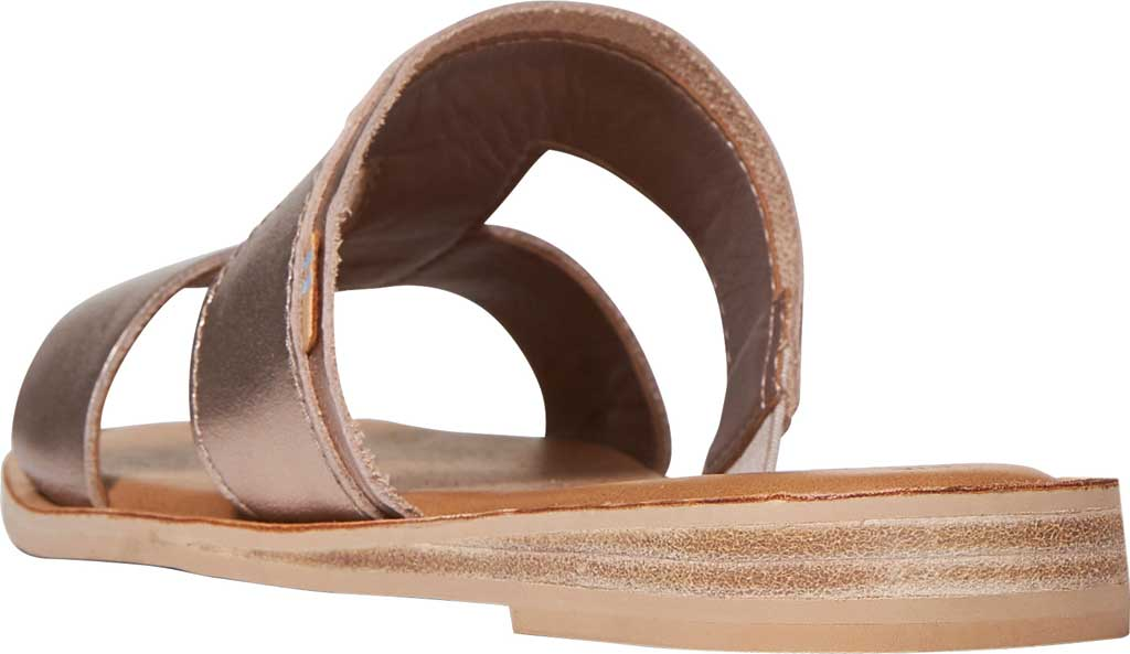 Women's TOMS Seacliff Leather Slide, Rose Gold Leather, large, image 3