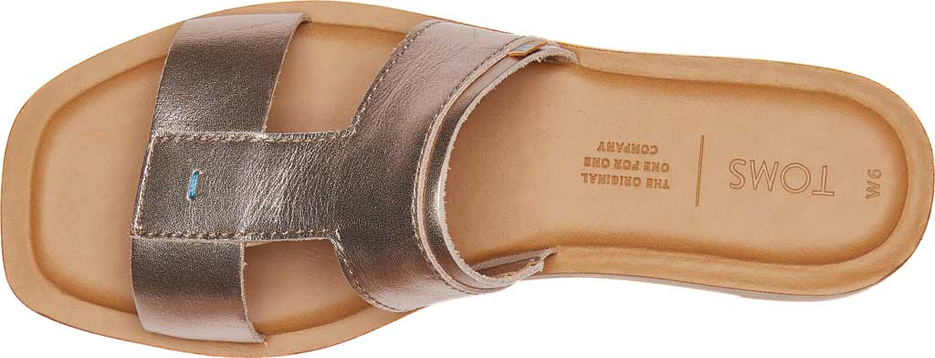 Women's TOMS Seacliff Leather Slide, Rose Gold Leather, large, image 4
