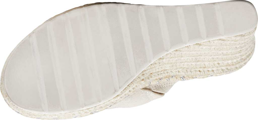 Women's TOMS Monica Rope Sole Wedge Slide, Natural Shimmer Suede/Textile, large, image 4