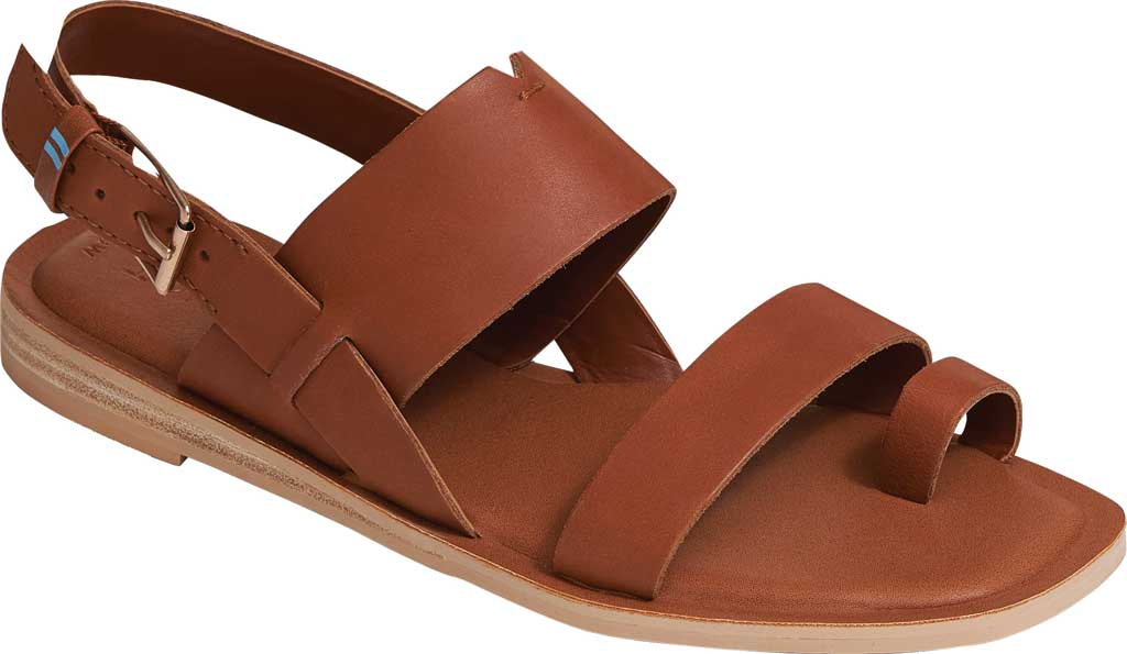 Women's TOMS Freya Vegan Leather Toe Loop Sandal, Tan Vegan Leather, large, image 1
