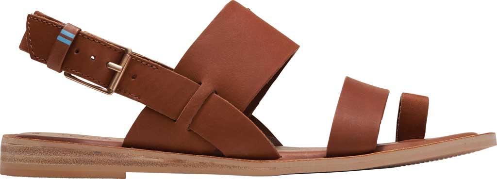 Women's TOMS Freya Vegan Leather Toe Loop Sandal, Tan Vegan Leather, large, image 2