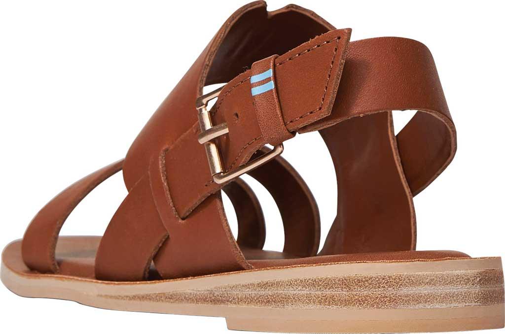 Women's TOMS Freya Vegan Leather Toe Loop Sandal, Tan Vegan Leather, large, image 3