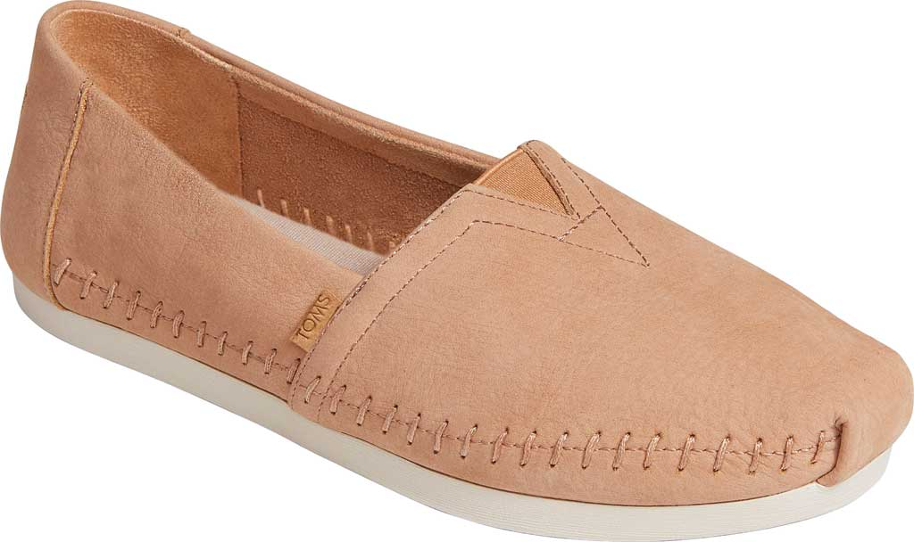 Women's TOMS Alpargata 3.0 Leather Slip On Shoe, Honey Leather, large, image 1