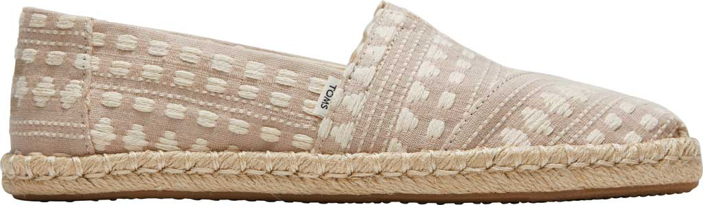 Women's TOMS Alpargata Rope Slip On Espadrille, Macadamia Global Woven Fabric, large, image 2