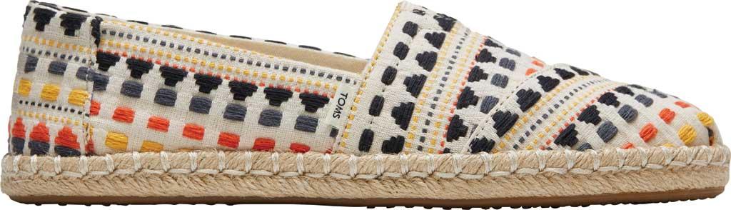 Women's TOMS Alpargata Rope Slip On Espadrille, Natural/Multi Global Woven Fabric, large, image 2