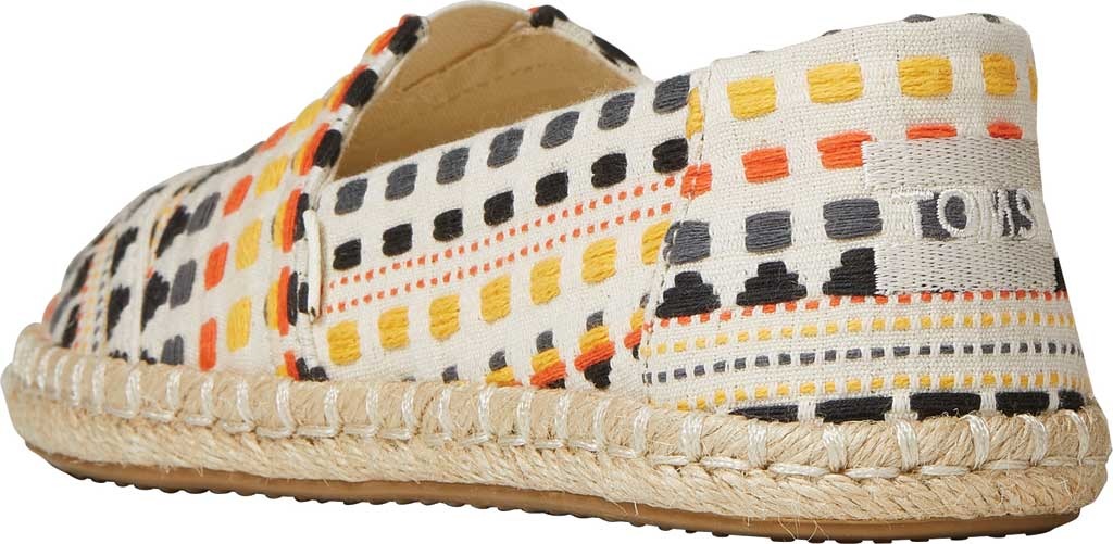 Women's TOMS Alpargata Rope Slip On Espadrille, Natural/Multi Global Woven Fabric, large, image 3