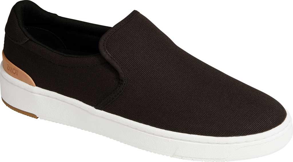 Men's TOMS TRVL LITE 2.0 Slip On Sneaker, Black Canvas, large, image 1
