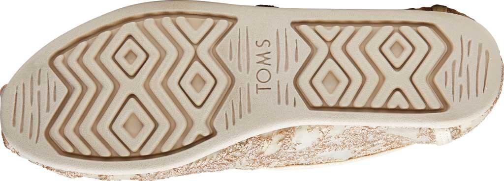 Women's TOMS Alpargata 3.0 Hibiscus Floral Lace Slip On Shoe, Natural Metallic Hibiscus Fabric, large, image 4