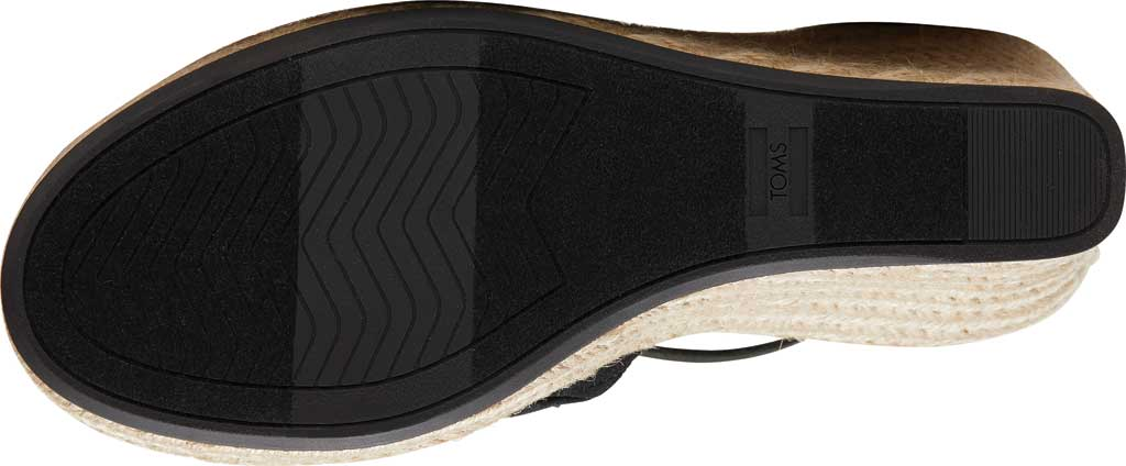 Women's TOMS Marisol Wedge Ankle Strap Sandal, Black Oxford Leather, large, image 4
