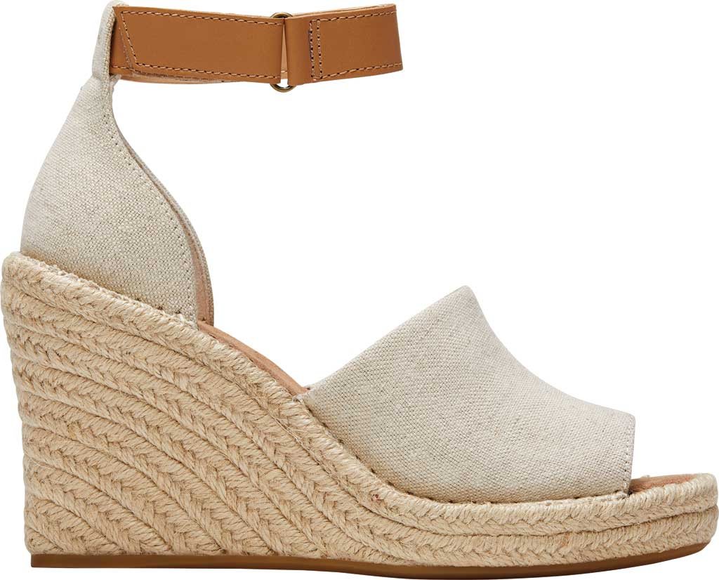 Women's TOMS Marisol Wedge Ankle Strap Sandal, Natural Oxford Leather, large, image 2