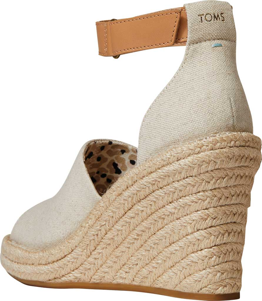 Women's TOMS Marisol Wedge Ankle Strap Sandal, Natural Oxford Leather, large, image 3