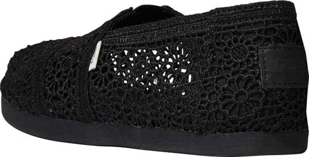 Women's TOMS Alpargata 3.0 Moroccan Crochet Slip On Shoe, Black Moroccan Crochet Fabric, large, image 3