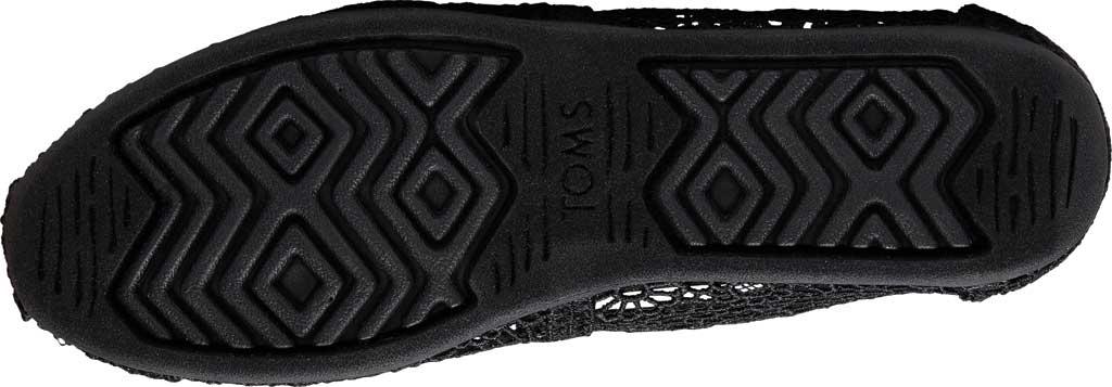 Women's TOMS Alpargata 3.0 Moroccan Crochet Slip On Shoe, Black Moroccan Crochet Fabric, large, image 4