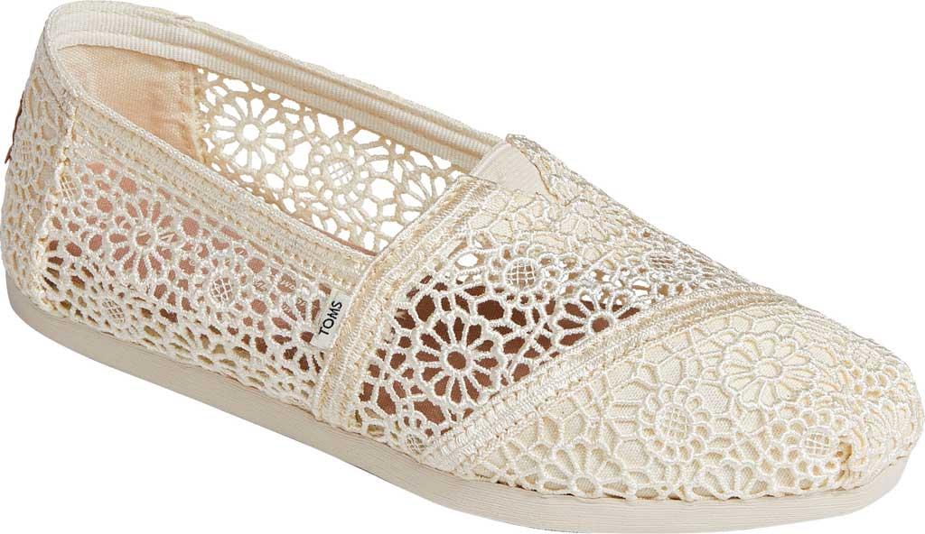 Women's TOMS Alpargata 3.0 Moroccan Crochet Slip On Shoe, Natural Moroccan Crochet Fabric, large, image 1