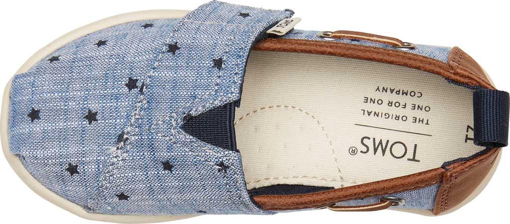 Infant Boys' TOMS Alpargata Chambray Stars Shoe, Navy Chambray Stars Fabric, large, image 4